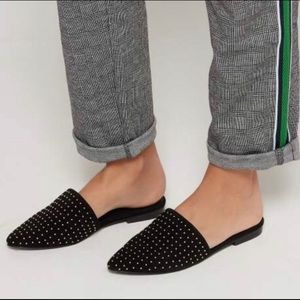 Steve Madden Trace Studded Point Toe Mules
